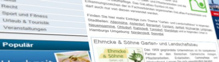 Eintrag im Branchenbuch Hamburg